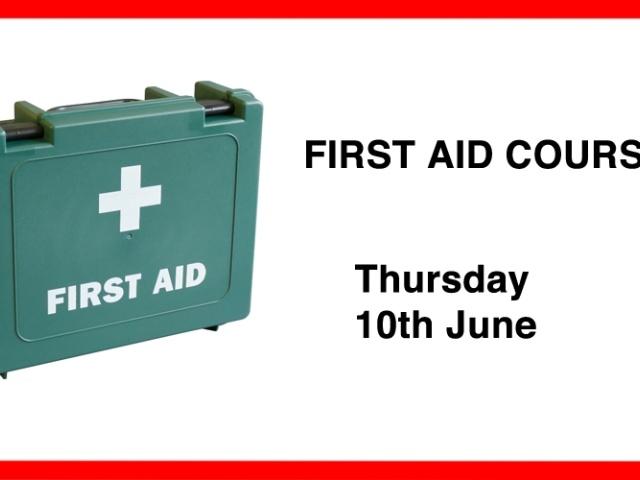 First Aid Course - 24th Feb 2021